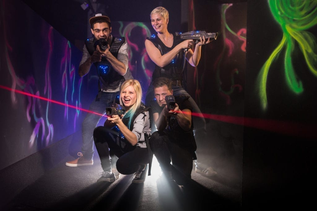 people playing laser tag